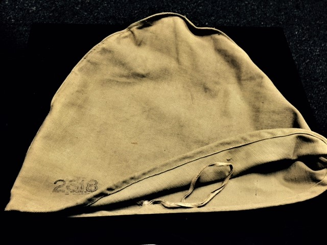 cdebe34d449f4 A scarce ROYAL MARINE Foreign Service Helmet post 1905 when the Home  Service Helmet was discontinued for the Marines. Classic six panels of  white cloth with ...